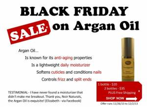 black friday argan oil